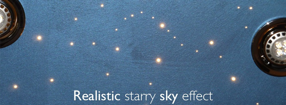 Realistic starry sky effect